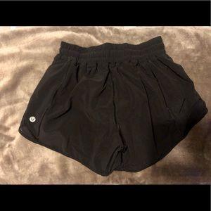 "Women's Lululemon Hotty Hot Short 2"" Black Shorts"